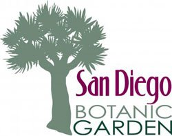 Graphic logo for San Diego Botanic Garden. 