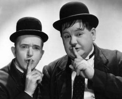 Promotional image of Stan Laurel and Oliver Hardy Stan.
