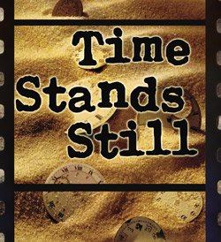 "Promotional graphic for the play ""Time Stands Still."" Courtesy of North Coast Repertory Theatre."