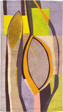 Promotional image of Chrysalises #1 by Valerie Maser-Flanagan found at Quilt Visions 2012: Brainstorms. Image provided by Visions Art Museum.