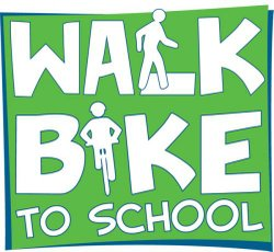 """Walk & Bike To School"" graphic. Courtesy of iWalk International Walk To School in the USA."