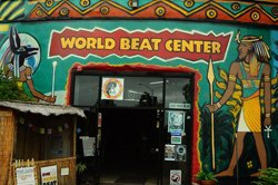 Exterior image of The World Beat Cultural Center located in Balboa Park.