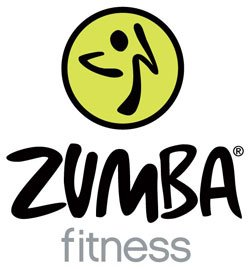 Graphic logo for Zumba Fitness. 