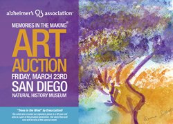 Promotional graphic for the Memories in the Making Art Auction.