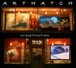 "Exterior image of the ArtHatch & Distinction Gallery presenting the ""Taetrum Et Dulce: Lux In Tenebris"" exhibition from September 8 - October 6, 2012."