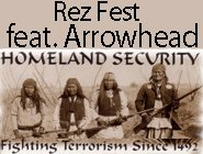 Promotional graphic for the 2nd Annual REZ Fest Featuring Arrowhead.