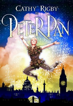 "Promotional graphic for ""Peter Pan"" starring Cathy Rigby"