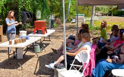 Promotional image of Solana Center's Learn to Compost, located at various locations.