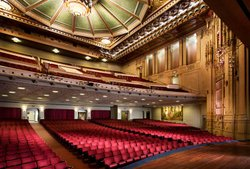 Interior image of Copley Symphony Hall. 