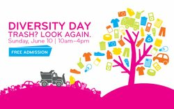 Promotional graphic for Diversity Day, June 10, 2012 from 10 a.m. - 4 p.m.
