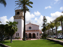 Exterior image of the San Diego Episcopal Church St. James by-the-Sea in La Jolla.
