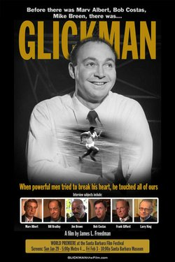 "Promotional image for the film, ""Glickman"" screening at the San Diego Jewish Film Festival on December 11th."