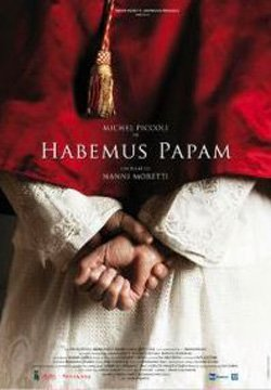 Promotional movie poster for 'Habemus Papam' playing at the San Diego Italian Film Festival on November 8th at 7pm.