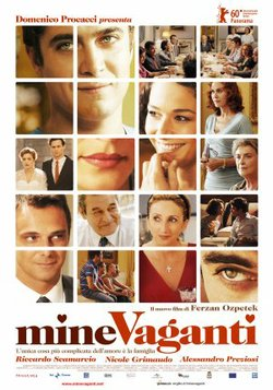 "Movie poster for the film, ""Mine Vaganti"" which translates to ""Loose Cannons"""