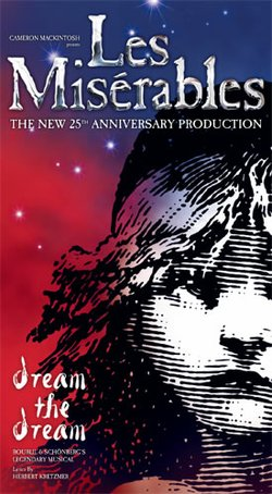 Promotional graphic for &quot;Les Misrables&quot; the 25th anniversary production at the San Diego Civic Theatre