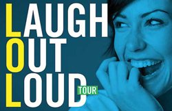 Promotional graphic for Second City's Laugh Out Loud Tour