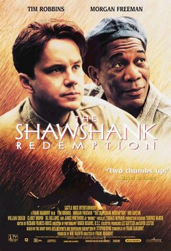 Promotional graphic for the film, &quot;The Shawshank Redemption&quot; (1994) that will be screening at the San Diego Central Library on September 28th. 