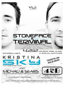 Promotional graphic for Stoneface & Terminal at 4th&B