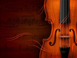 Promotional image of a violin.
