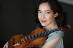Photograph of Viviane Hagner, who will be performing Mendelssohn's Violin Concerto at the Copley Symphony Hall on January 11-13th, 2013.