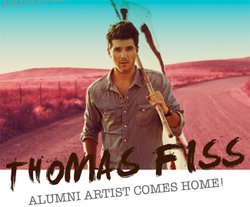 Promotional graphic for Thomas Fiss Homecoming Benefit Concert at Coronado High School on October 13th, 2012 at 7pm. 