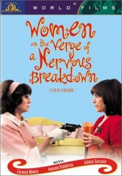 "Promotional graphic for the film, ""Women on the Verge of a Nervous Breakdown"" screening at the Central Public Library on December 7th."
