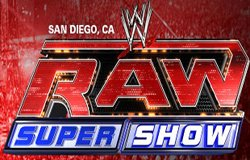 Promotional graphic for the WWE Raw SuperShow