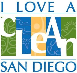 Graphic logo for the I Love A Clean San Diego. Courtesy of I Love A Clean San Diego.