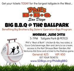 Promotional graphic for the 5th Annual Phil's Big BBQ At The Ballpark on June 24th, 2013.