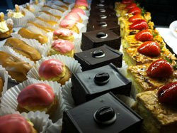 Promotional image of Cafe Zucchero&#39;s desserts. 