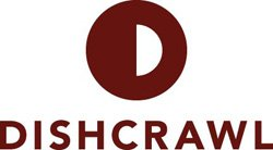 Graphic logo for Dishcrawl. 