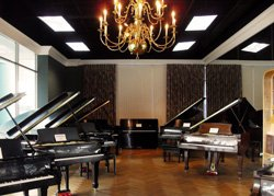Promotional image of Greene Music pianos.
