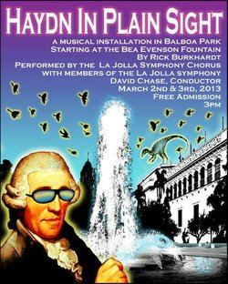 Promotional flyer for &quot;Haydn In Plain Sight&quot; on March 2nd &amp; 3rd. 