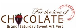 "Graphic logo for the ""For the Love of Chocolate And SweetArt Festival."""