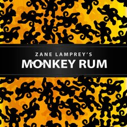 Promotional graphic for Zane Lamprey's Monkey Rum