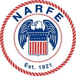 Graphic logo for NARFE.