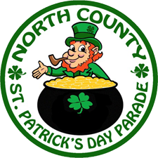 Graphic image for the 2nd Annual North County St. Patrick's Day Parade & Festival on March 16th, 2013.