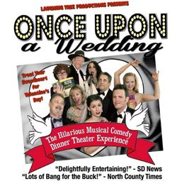 Promotional image for 'Once Upon A Wedding' - The Hilarious Musical Comedy Dinner Theater Experience at Lafayette Hotel on February 14th & 15th, 2013.