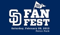 Promotional graphic for the San Diego Padres FanFest on Saturday, February 9, 2013, from 10 a.m. to 4 p.m. at Petco Park. Courtesy of the San Diego Padres