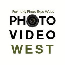 Graphic logo for Photo Video West at the Del Mar Fairgrounds on April 27-28, 2013.