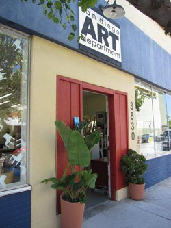 Exterior image of San Diego Art Department. 