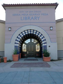 Exterior image of the Serra Mesa-Kearny Mesa Branch Library.