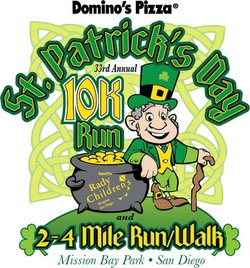 Promotional graphic for the St. Patrick&#39;s Day 10K Run, 2 &amp; 4 Mile Run/Walk on March 16th, 2013.
