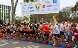 Promotional image of the start line at 2012 Race for Autism in Balboa Park.