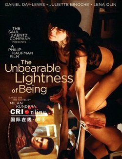 "Promotional graphic for the film, ""The Unbearable Lightness of Being"""