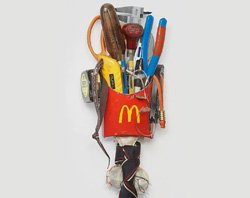 Sample image of Tom Sachs&#39; sculpture, &quot;Voodoo&quot;. 