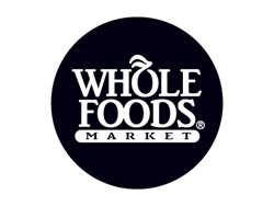 Promotional logo for Whole Foods Market. 