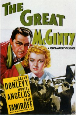 "Promotional graphic for the film, ""The Great McGinty."""