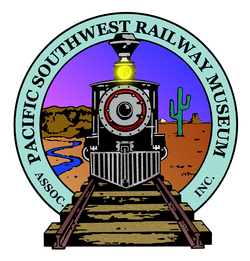 "Graphic logo for the Pacific Southwest Railway Museum, who will be hosting ""Vintage Train Rides"" from January 5th - May 26th, 2013."