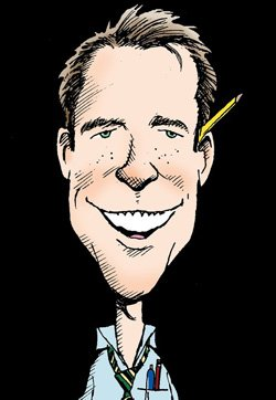 Promotional cartoon of Steve Breen from UT San Diego. 